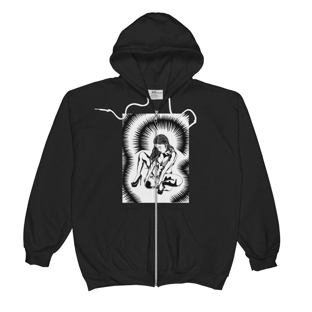 Better use for your mouth Unisex  Zip Hoodie