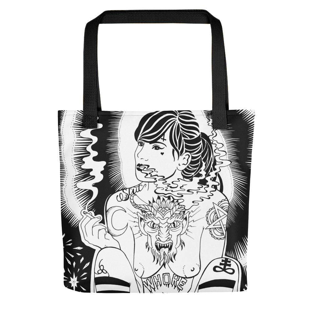 Whore Tote bag
