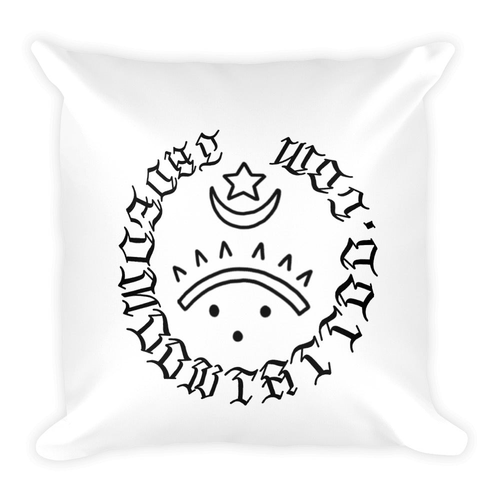 Hell cat Square Pillow