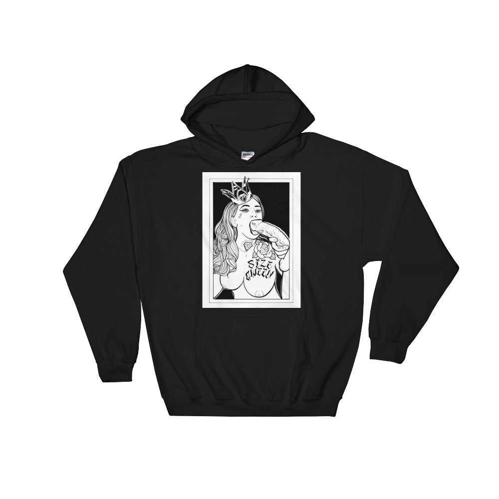 Size qween Hooded Sweatshirt