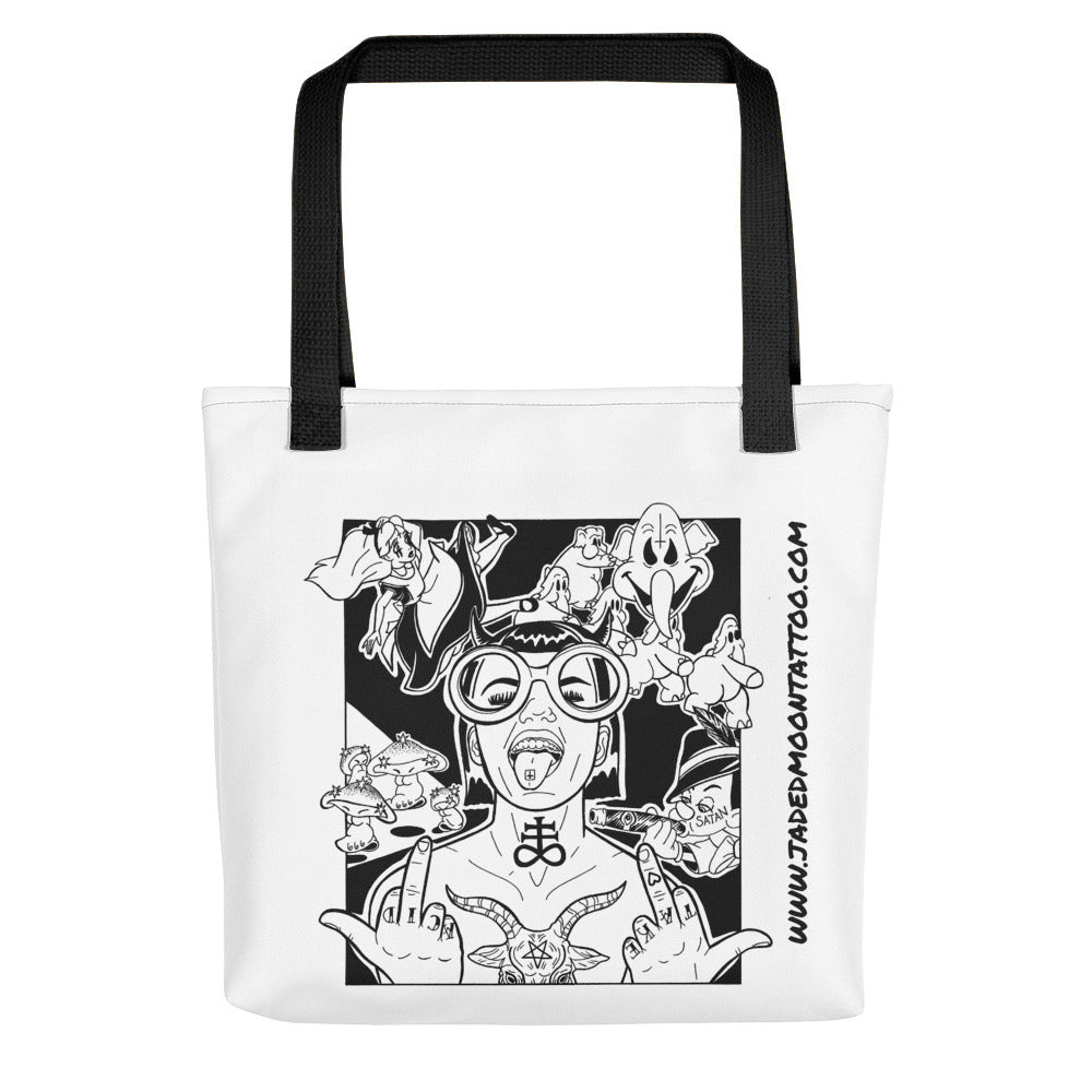Take Drugs For Satan Tote bag