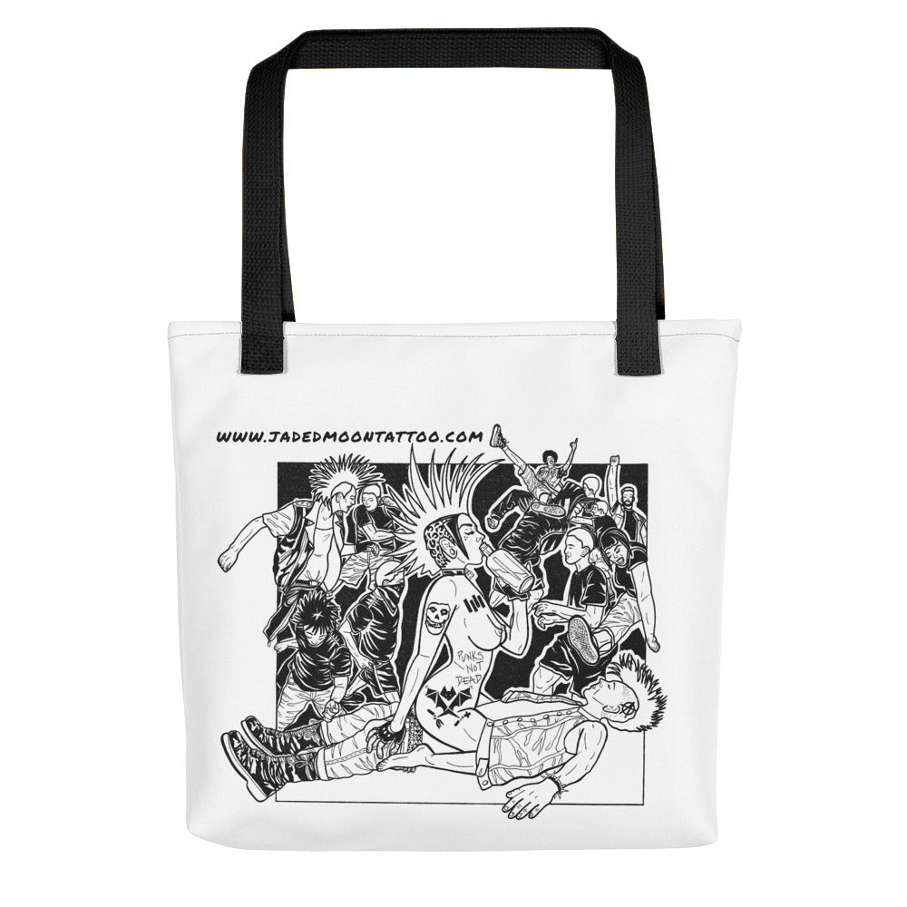 Punx not dead Tote bag