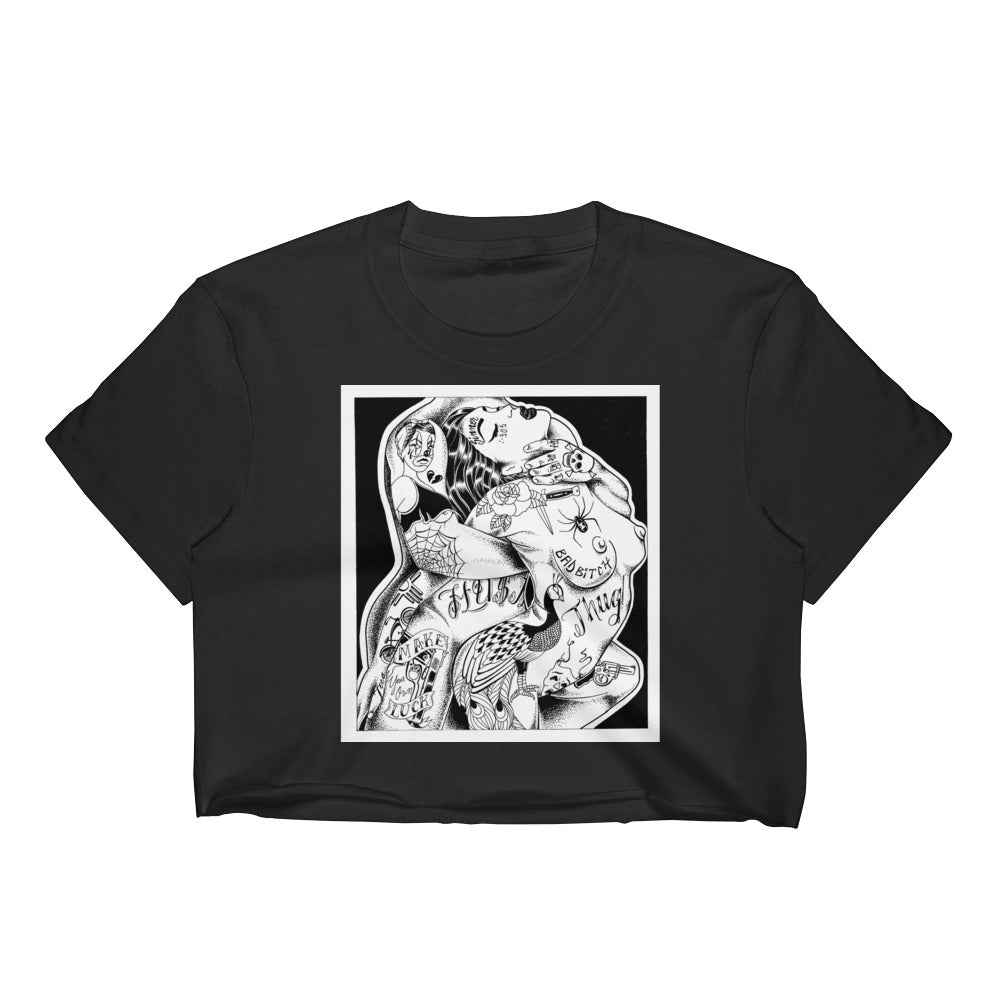 Bad mother fucker Women's Crop Top
