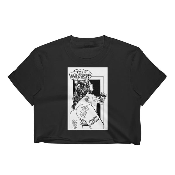 SKATE AND DESTROY Women's Crop Top