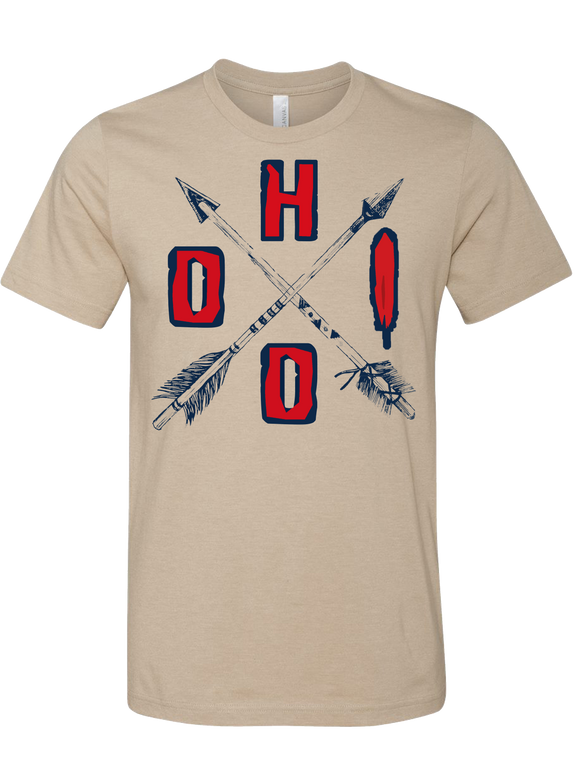 Ohio Crossed Tribal Arrows Tee