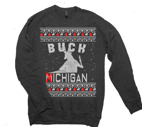 Buck Michigan Ugly Sweater Crewneck