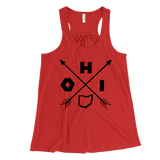 Tribal Ohio Women's Flowy Racerback Tank