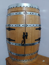 Whiskey Barrel Hanging Corner Cabinet