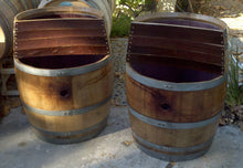 2-Level Wine Barrels Planters