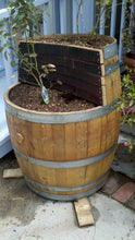 Wine Barrel - 2-level planter 2