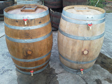 Wine Rain Barrels, Finished and Raw