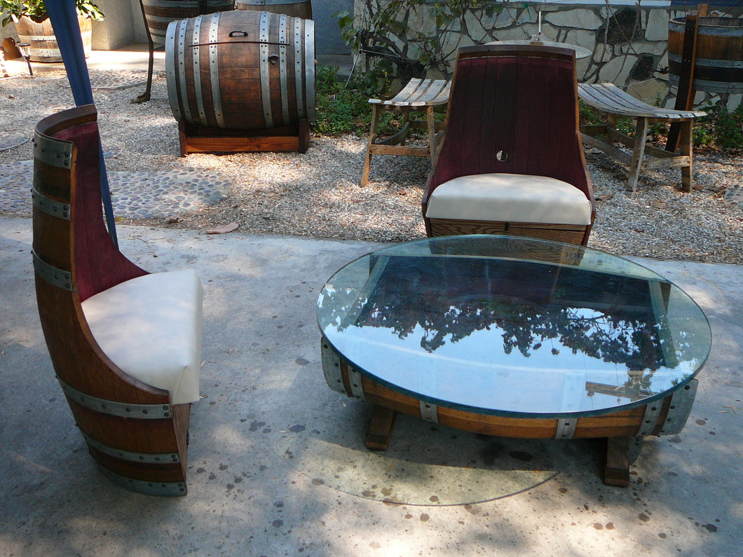 Wine Barrel Low Cut Chairs