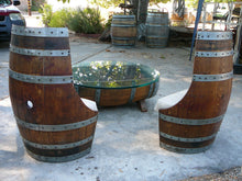 Wine Barrel Low Cut Chairs Back