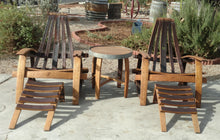 Wine Barrel Adirondack Side Table with Chairs Set
