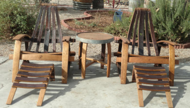 Adirondack Patio Set - Chairs, Footrests, Table