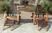 2 Adirondack Chairs, 2 Footrests