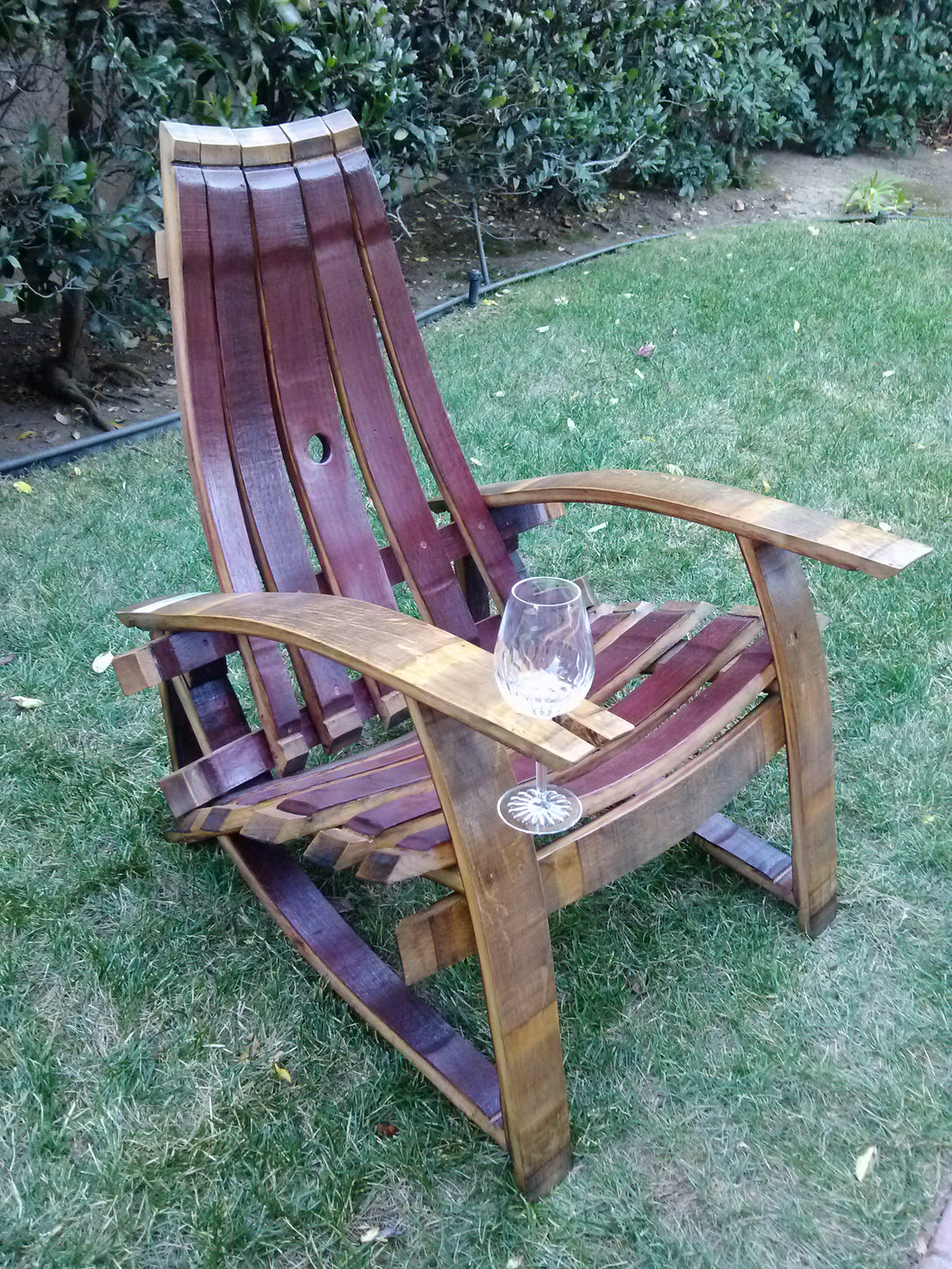 Adirondack chair, right wine holder