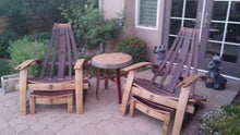 Adirondack Patio Set - Chairs, Footrests in, Table