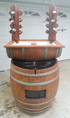 Vertical Wine Barrel Aquaponics System