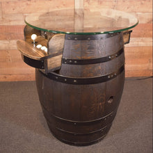Arcade Wine Barrel in Ebony