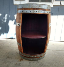 Wine Barrel Cabinet Open Door 1 shelf