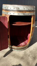 Barrel Cabinet single door open with high shelf