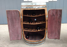 Rustic Wine Barrel Wine Rack Cabinet