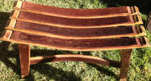 Wine Barrel Stave Bench