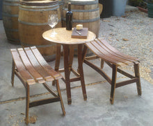 Wine Barrel Bistro Table and 2 Benches