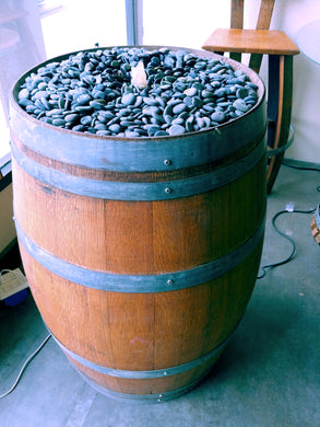 Wine Barrel Bubbly Water Fountain