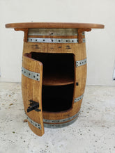 Wine Barrel Single Door Cabinet Table with shelf
