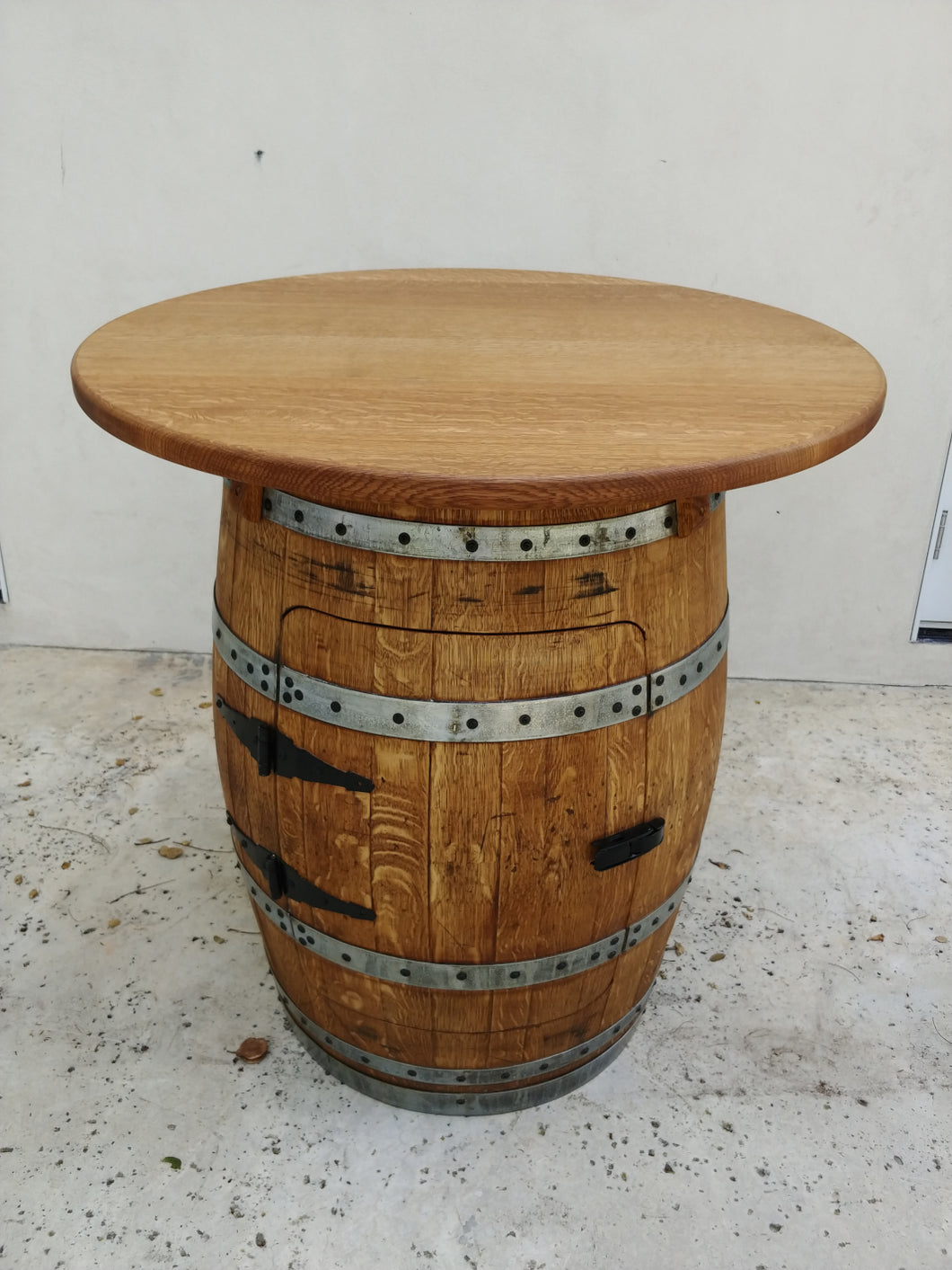 Wine Barrel Single Door Cabinet Table