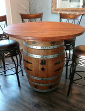 Wine Barrel Double Door Cabinet Table