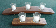 Wine Barrel Hill Style Candleholder, 3 votive candles, 2 votive candles