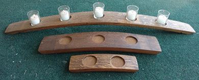 Wine Barrel Hill Style Candleholder, 5 candles, 3 candles, 2 candles