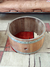 "Center Cut Wine Barrel Coffee Table Base 15"" Overview"