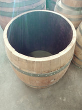 "Center Cut Wine Barrel for Coffee Table Base 25"" Raw Overview"