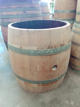 "Center Cut Wine Barrel for Coffee Table Base 25"" Raw"