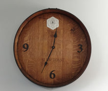 Wine Barrel End Arabic Numeral Clock