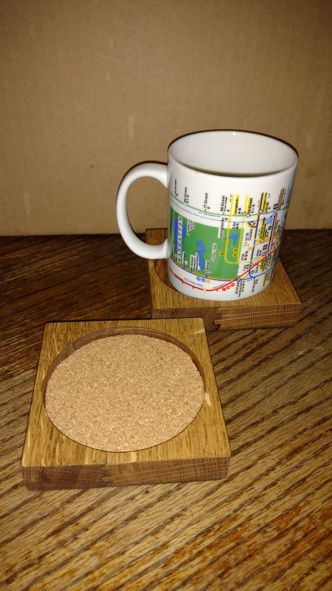 Wine Barrel Head Coaster