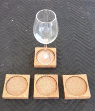 Wine Barrel Head Coaster Set