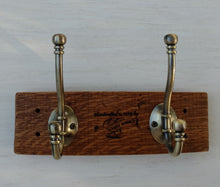 Wine Barrel 2 Hook Bathrobe or Towel Rack