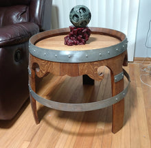 Wine Barrel Low Designer End Table