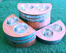 Wine Barrel Raised Dog Dishes