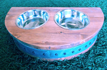 "Wine Barrel Raised 4"" Dog Dish"