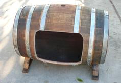 Wine Barrel Dog House Side Door