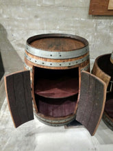Double Door Wine Barrel Cabinet with Shelf