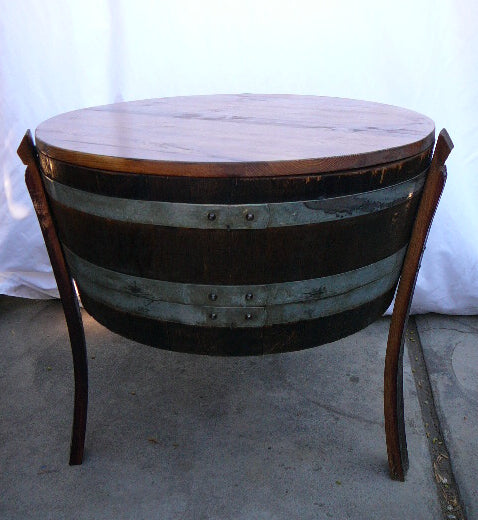 Wine Barrel Cooler End Table