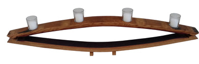 Wine Barrel Reflection Style Candleholder, 4 votive candles