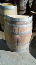 Rustic Standing Half Wine Barrel in the Raw